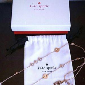 NWT Kate Spade rose gold necklace Orig.$78